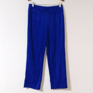 New Kim Rogers PS Blue Velour Pull-on Lounge Pants